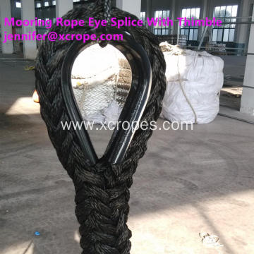 Mooring Rope Eye Splice With Thimble
